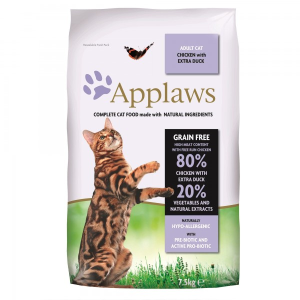 Applaws Cat Adult Pui si Rata 7.5 kg + cadou 5 x masca protectie Applaws