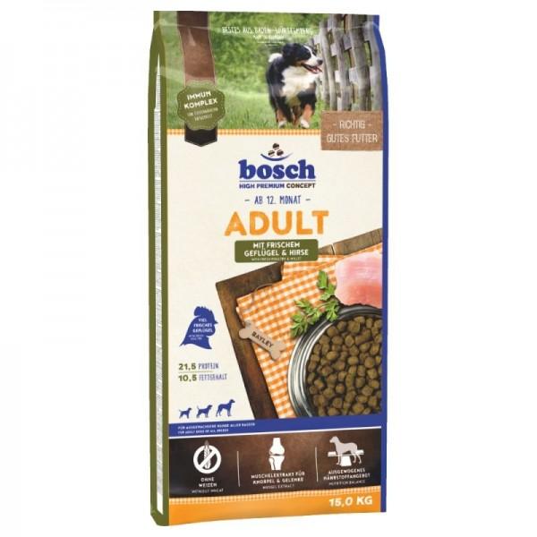 Hrana uscata pentru caini Bosch Adult cu pasare si mei 15 kg