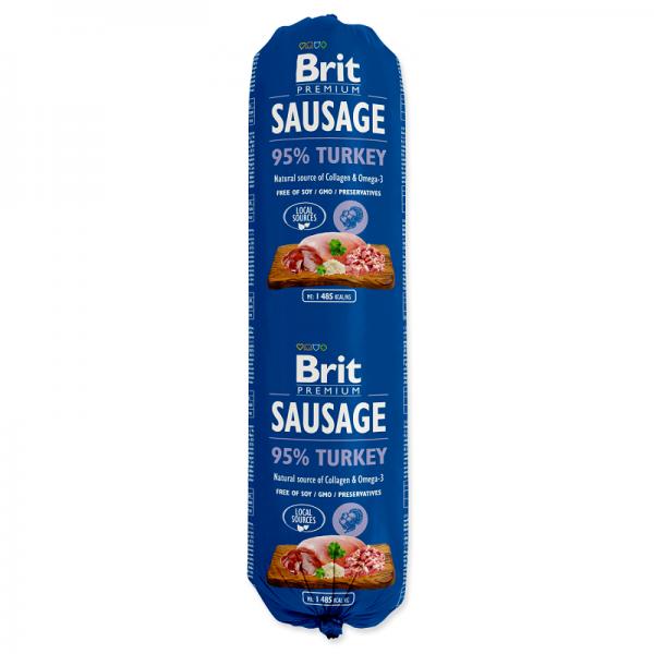 Salam Brit Premium cu Curcan, 800 gr