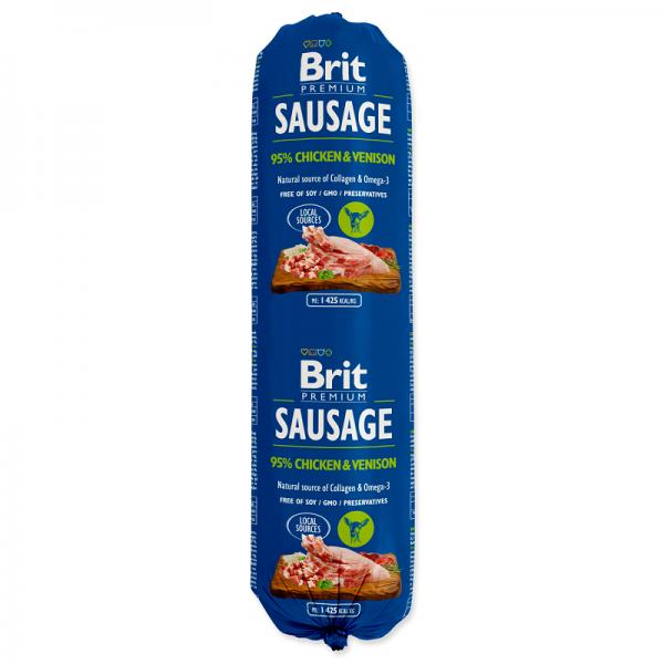 Salam Brit Premium cu Pui si Iepure, 800 gr