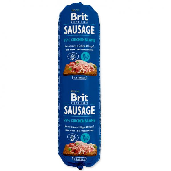 Salam Brit Premium cu Pui si Miel, 800 gr