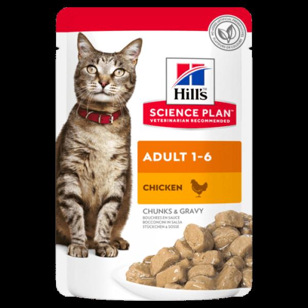 Hills SP Feline Adult Chicken 85 g (plic)