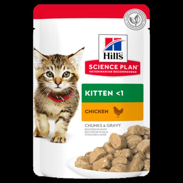 Hills SP Feline Kitten Chicken 85 g (plic)