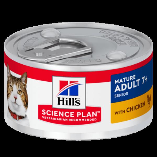 Hills SP Feline Mature Chicken 82 g (conserva)