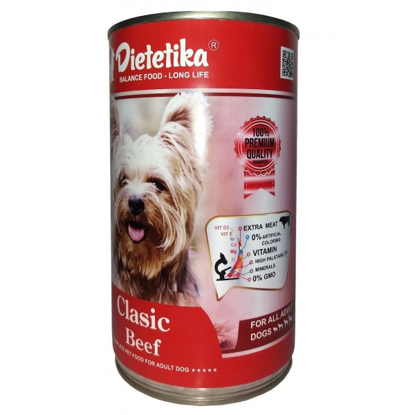 Hrana umeda pentru caini, Dietetika Clasic, cu Vita, 415 gr