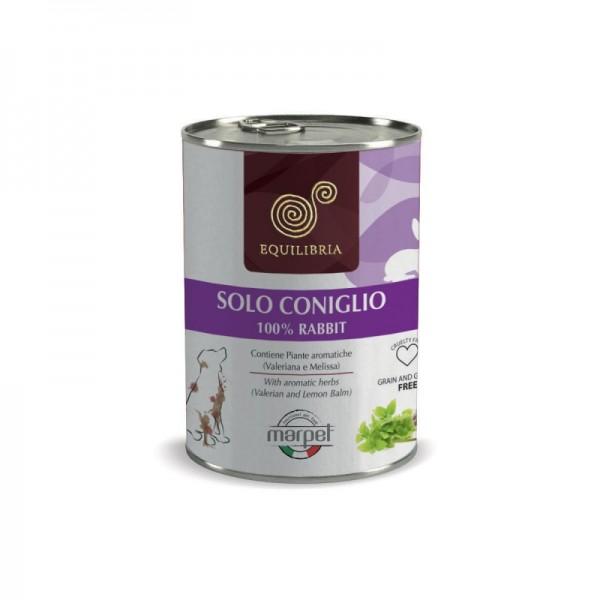 Conserva EQUILIBRIA Dog - 100% carne de IEPURE -  410 gr