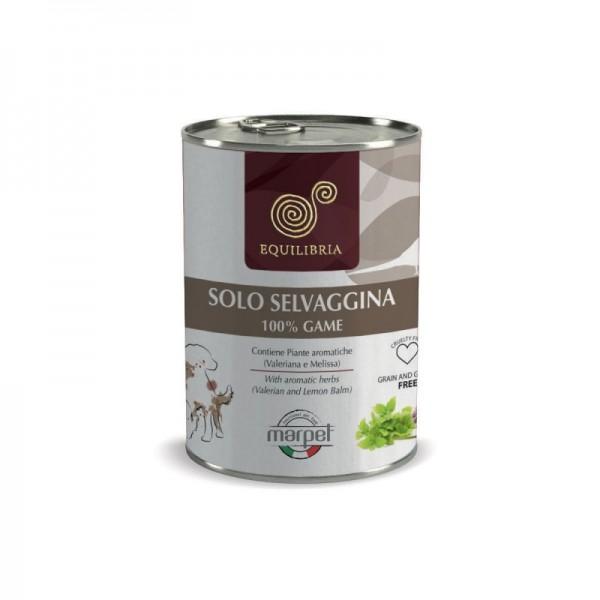 Conserva EQUILIBRIA Dog - 100% carne de VANAT SALBATIC -  410 gr
