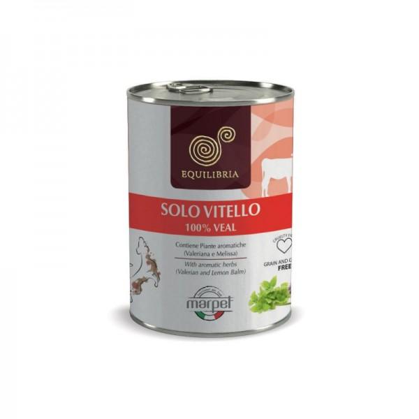 Conserva EQUILIBRIA Dog - 100% carne de VITEL - 410 gr