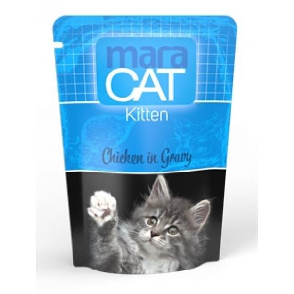 Maracat Kitten, cu pui in sos, plic 100 gr