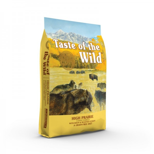 Taste of the Wild High Prairie 12.2 kg + cadou 1 x ulei somon dr Bute 250 ml