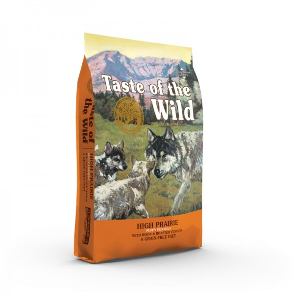 Taste Of The Wild High Prairie Puppy 12.2 kg + cadou 1 x ulei somon dr Bute 250 ml