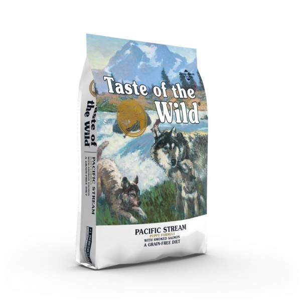 Taste Of The Wild Pacific Stream Puppy 12.2 kg + cadou 1 x ulei somon dr Bute 250 ml