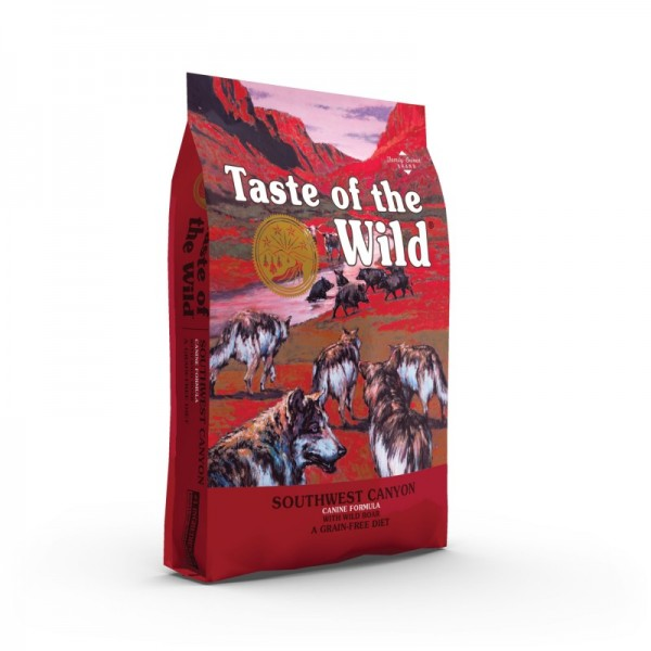 Taste of the Wild - SouthWest Canyon 12.2 kg  + cadou 1 x ulei somon dr Bute 250 ml