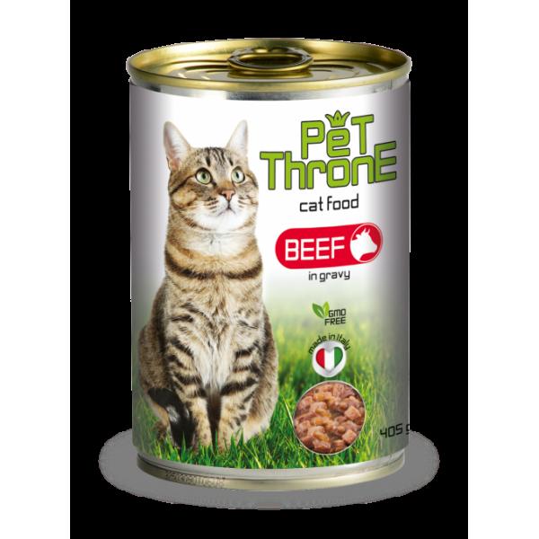 Conserva pentru pisici, Pet Throne, cu Vita, 405 g