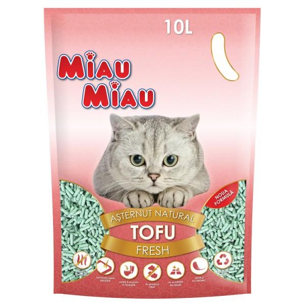 Nisip pentru pisici MIAU MIAU Tofu FRESH 10L