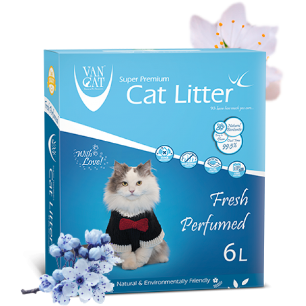 Nisip Igienic Pentru Pisici, Vancat Antibacterial Blue 6 L