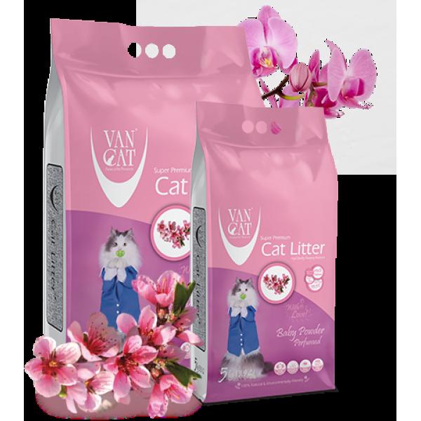Nisip Igienic Pentru Pisici, Vancat Baby Powder Compact 5 Kg