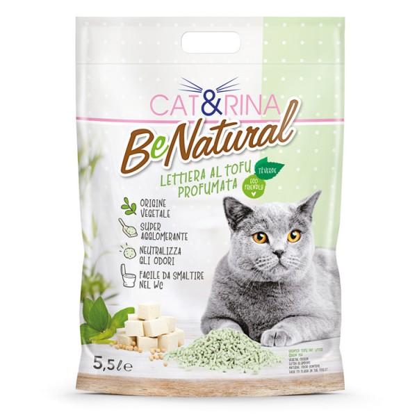 Nisip pentru pisici CAT RINA Tofu cu ceai verde 5.5L