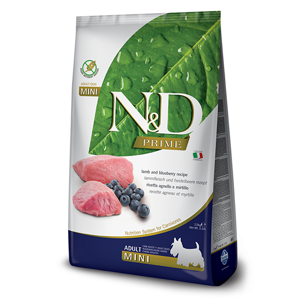 N and D Prime Dog Lamb and Blueberry Adult Mini 2.5 kg