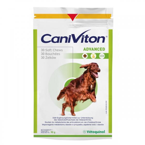 Supliment nutritiv Vetoquinol, Caniviton Advanced, 30 Tablete Gumate