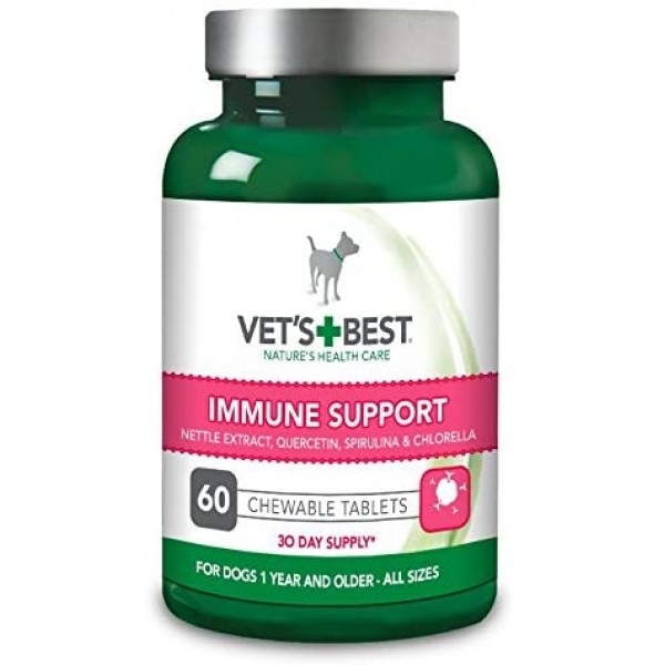 Supliment nutritiv pentru caini Vet's Best, sustinerea imunitatii, 60 tab