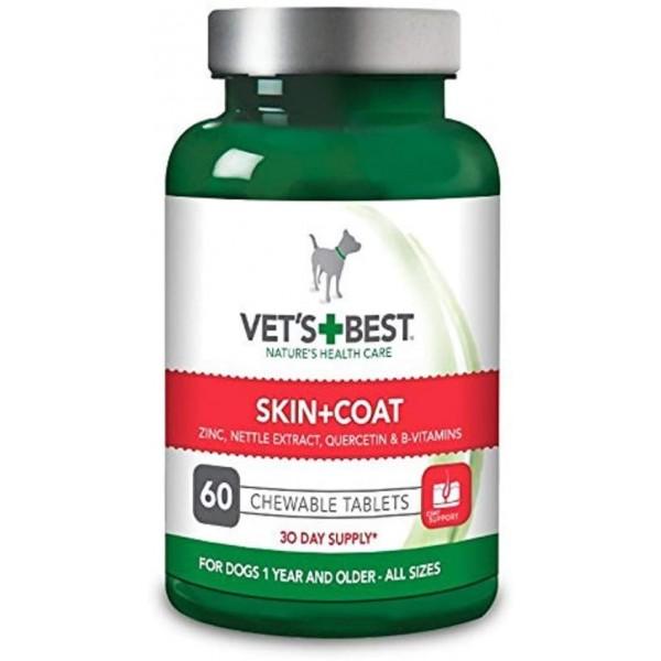 Supliment nutritiv pentru caini Vet's Best, blanita sanatoasa, 60 tab
