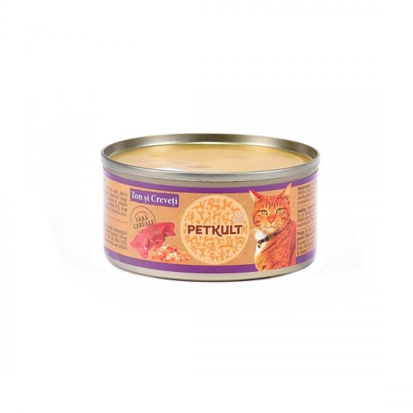 Hrana Umeda Pisici Petkult Cat Ton Creveti 80gr