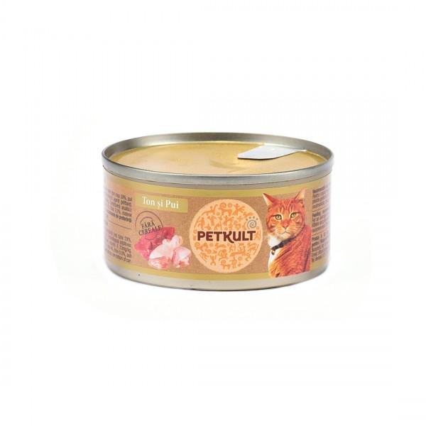 Hrana Umeda Pisici Petkult Cat Ton Pui 80gr