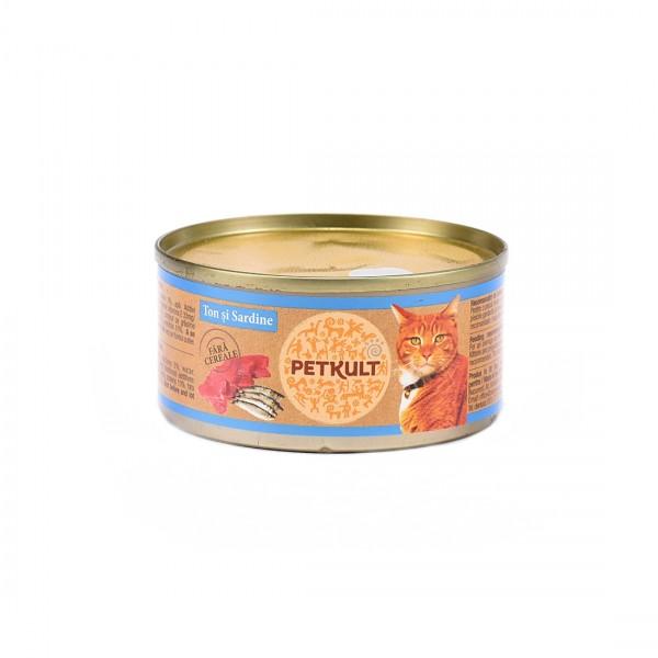 Hrana Umeda Pisici Petkult Cat Ton Sardine 80gr