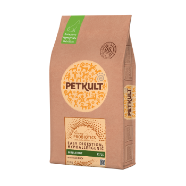 Hrana Uscata Caini Petkult Probiotics Mini Adult Rata Orez 8 kg