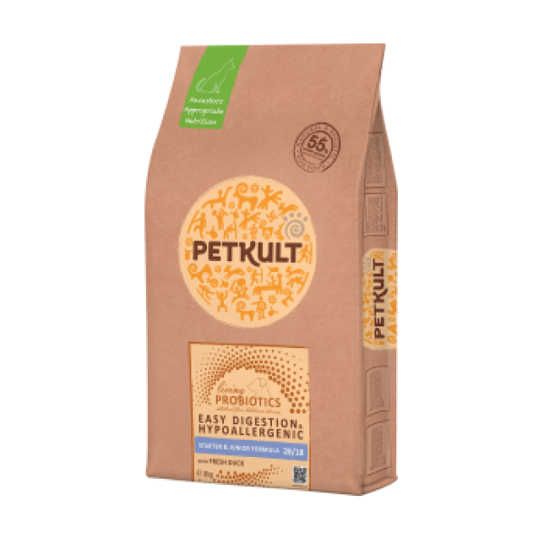 Hrana Uscata Caini Petkult Probiotics Starter Junior Rata Orez 8 kg
