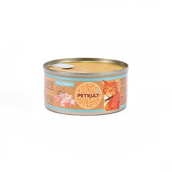 Hrana Umeda Pisici Petkult Pui Iepure 80 g