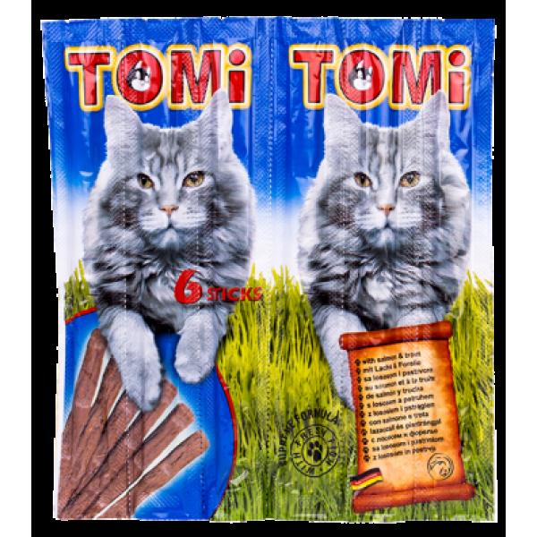 Recompense pentru pisici, Tomi Snack, Somon si Pastrav, 6 buc.