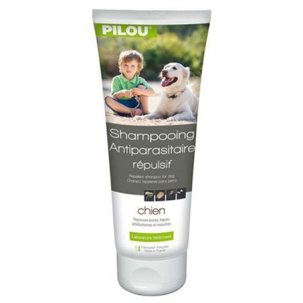 Sampon antiparazitar Pilou, pentru caini, 250 ml