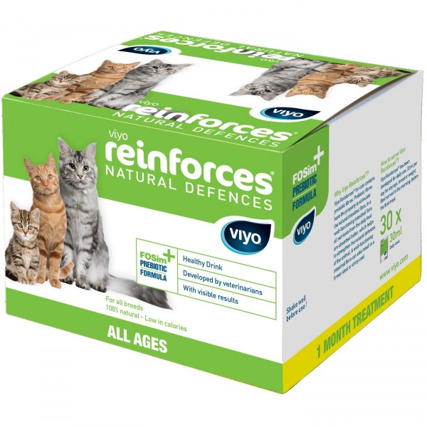 Supliment nutritiv pentru pisici, Viyo Reinforces, Toate Varstele, 30 x 30ml