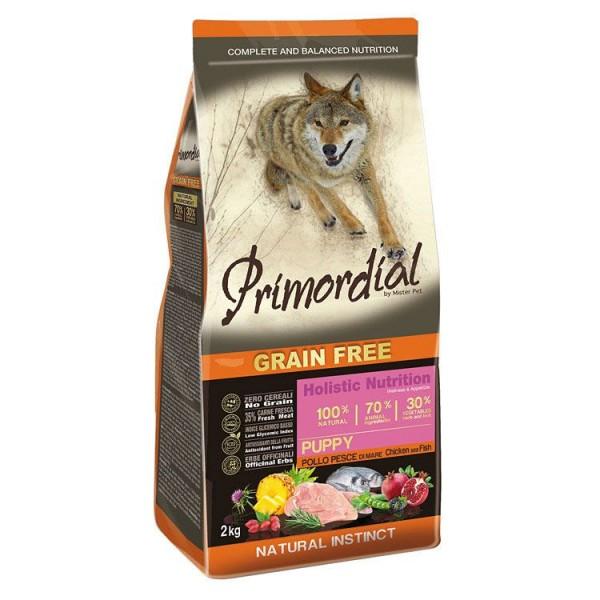 Hrana uscata pentru caini Primordial Grain Free Puppy Pui Peste Oceanic 12 kg