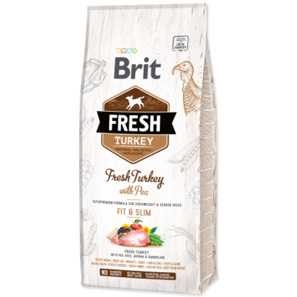 Hrana uscata pentru caini Brit Fresh, Curcan si mazare, 12kg