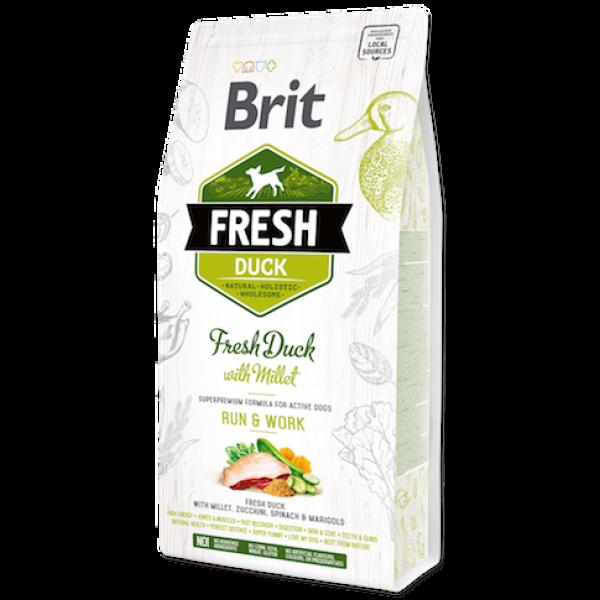 Hrana uscata pentru caini Brit Fresh, Rata si mei, 2.5kg