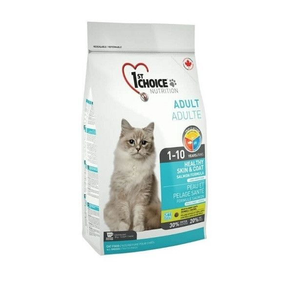 1st Choice Cat Adult Skin And Coat, 5.44 Kg