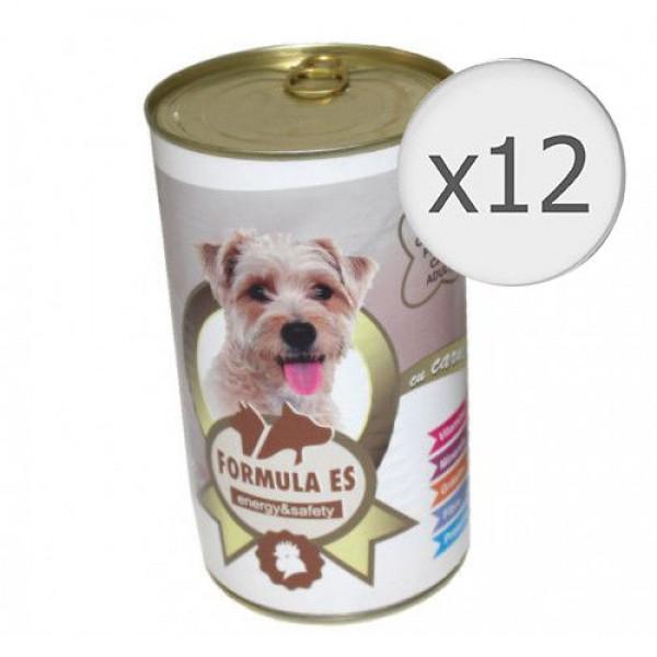 Hrana umeda pentru caini, Formula ES, Pui, 12 x conserva 1240 g