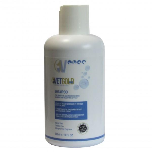 Sampon pentru caini si pisici, Vetgold, pentru piele sensibila si iritata, 300 ml