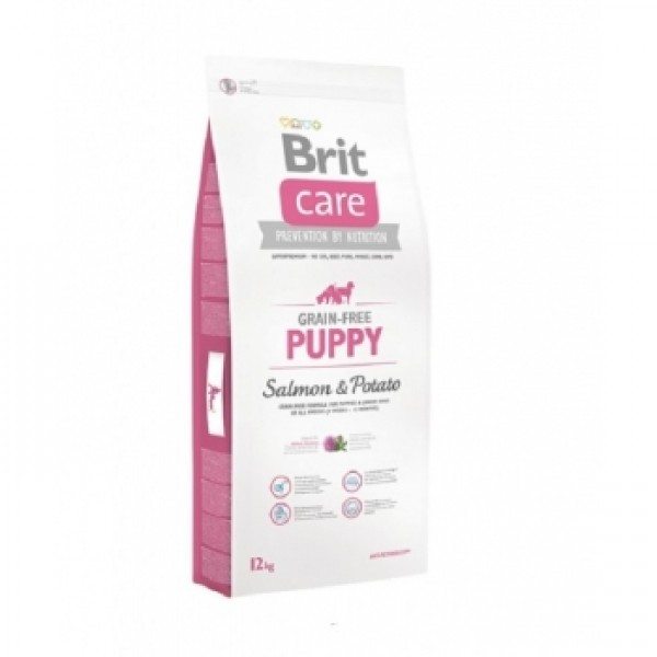 Brit Care Grain Free Puppy Somon si Cartofi, 3 kg