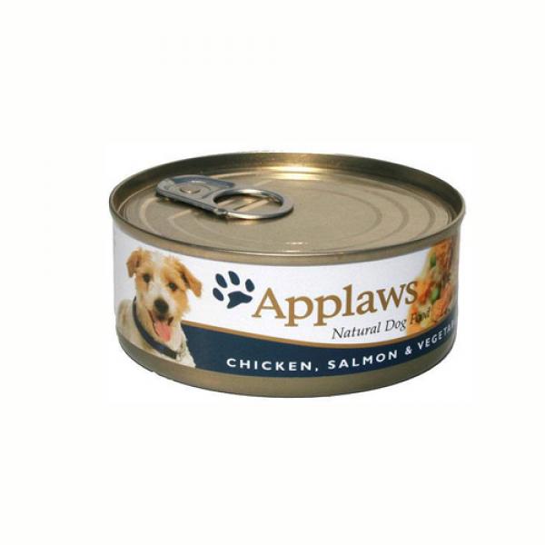 Applaws Dog Adult Piept de Pui Somon si Legume, Conserva 156 gr