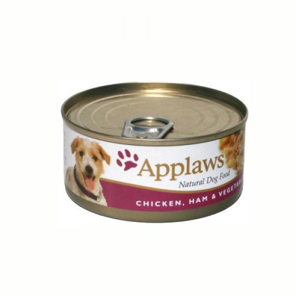 Applaws Dog Adult Piept de Pui, Sunca si Legume, Conserva 156 gr