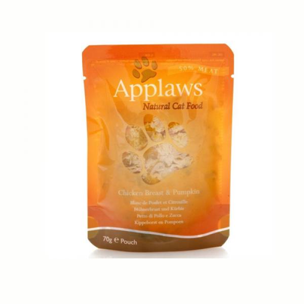Applaws Cat Adult  Piept de pui cu dovlecel, plic 70 gr