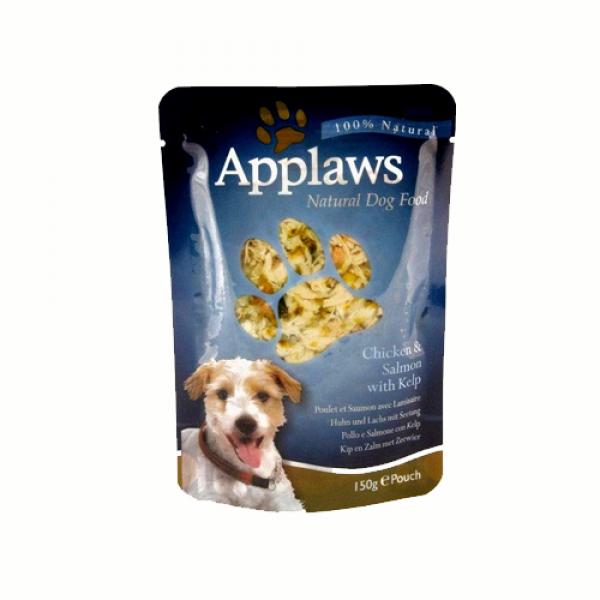 Applaws Dog Adult cu pui, somon si alge marine, plic 150 gr