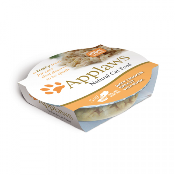 Applaws Cat Adult Piept de Pui si Rata, Bol 60 gr