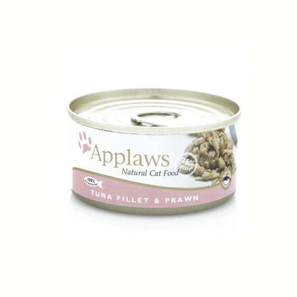 Applaws Cat Adult File de Ton si Creveti, Conserva 70 gr