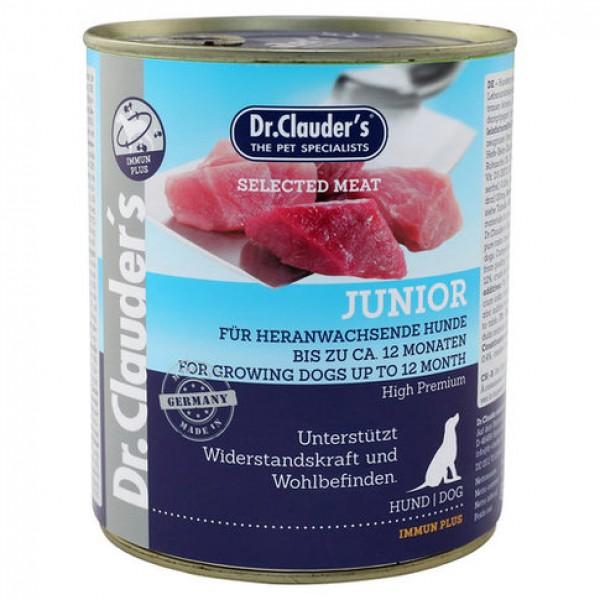 Conserva Dr. Clauder`s Dog Selected meat - Junior - 400gr