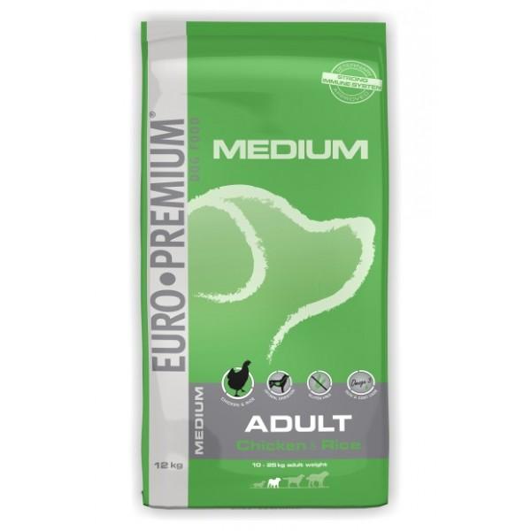 Euro Premium Adult Medium Pui si Orez 12 kg